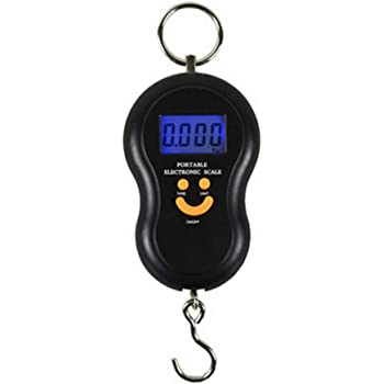 Souarts 50Kg //10g Hanging Scale Digital Scale Backlight Fishing Pocket Weight Scale Luggage Scales