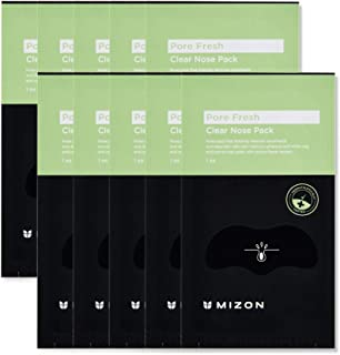 Mizon, Blackhead Pore Strips, 10 Nose Strips for Blackhead Removal, Deep Cleansing Peel Off Strips with Cactus Flower Extr...
