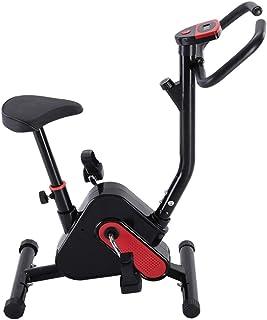 FLAMROSE エアロマグネティックバイク フィットネスバイク 6段高さ調節可能 クロスバイク 自宅でのフィットネス 軽量デザイン 室内用 エクササイズマシン 自転車トレーニング 有酸素運動 コンフォートバイク