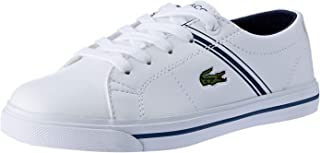 Lacoste RIBERAC 118 2 Kids Fashion Shoes, WHT/NVY