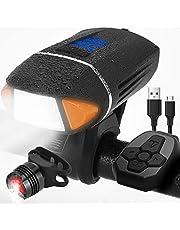 自転車 ライト、ZENBRE Vanite5リモコン式 自転車ヘッドライトIPX6防水/USB充電/テールライト&ターンランプ付き/ドイツ標準アンチグレア【3モード/高輝度/360度回転/懐中電灯兼用/アウトドア/防災】(ブラック)