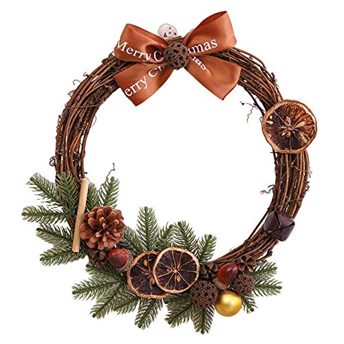 Christmas Large Wreath, Front Door Wreath, Outdoor Wall Hanging Ornaments, Red Bowknot Garland Christmas Decoration Gifts For Christmas Party Easter