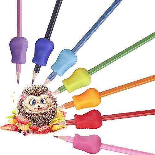 Schreibhilfe Für Stift Kinder, 10 Stück Ergonomische Schreibhilfe Gummi, Bleistift Schreibhilfe/Schreibhilfe Griff Für Linkshänder Und Rechtshänder/Behinderte