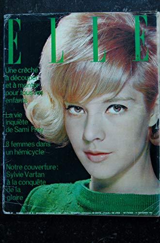 ELLE 886 14 déc.1962 - Sylvie Vartan Cover - Sami Frey - Les nouvelles tenues de nuit - 180 pages FASHION VINTAGE
