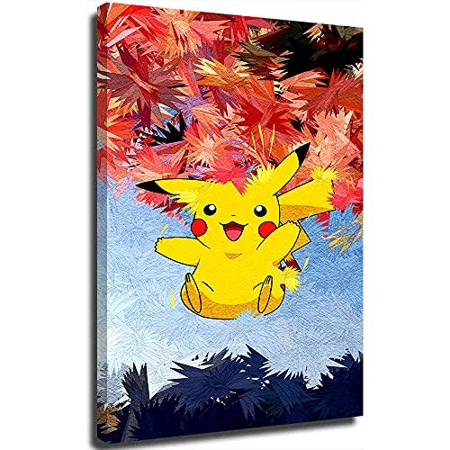 STTYE Trend International - Póster de Pokémon de madera con diseño de Pokémon para arte de pared, imágenes, estampados, lienzo de 50,8 x 76,2 cm