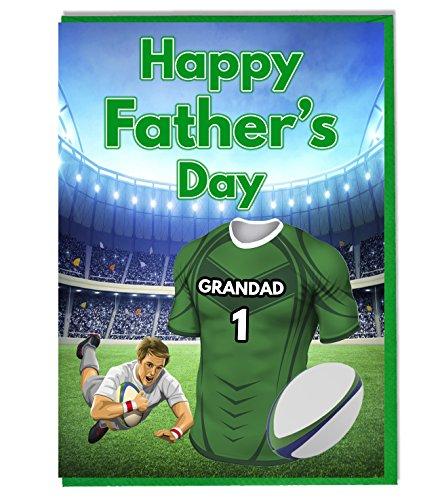 Vater 's Day Karte Rugby Motto–Connacht Farben Grandad