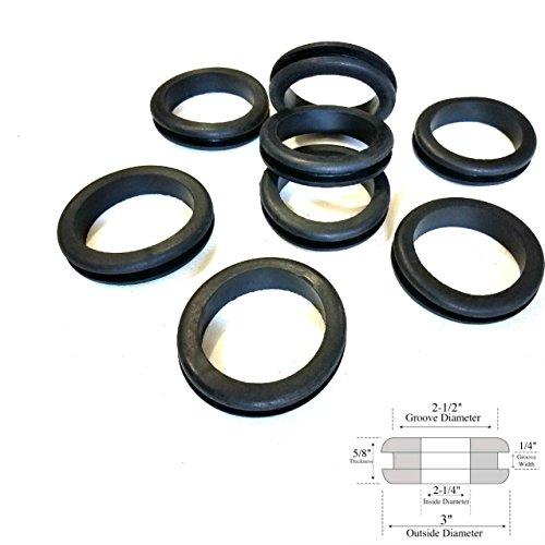 """Fits  1//2/"""" panel hole 12  Rubber Grommets  13//32/"""" Inner Diameter"""