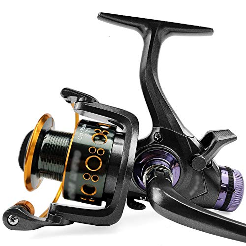 GSAGJyec Carrete de Pesca, 5.2: 1/5.0: 1 Carpa Nuevo Freno Freno Freno Doble Agua Salida Spinning Reel Carrete de Pesca de mar (Size : 3000 Series)