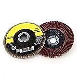 アングルグラインダーサンドペーパーホイール用の4インチ100mmフリップトップディスクホイール10個