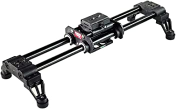 FILMCITY 2ft/24 Video Camera Slider Dolly Track, 25mm Rail Rods + Bag for Cinema Cameras up to 40Kg Tripod Compatible (FC-...