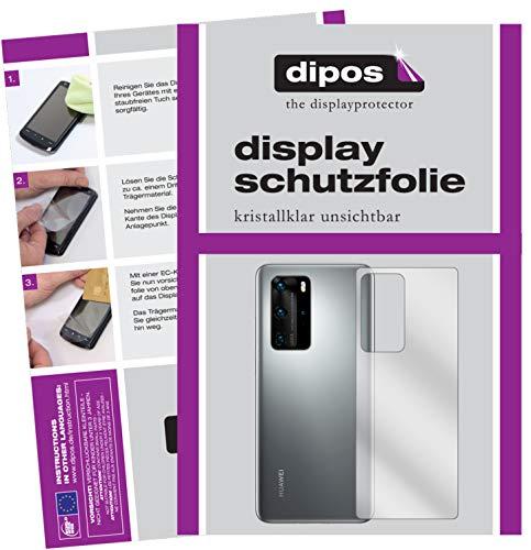 dipos I 2X Schutzfolie klar kompatibel mit Huawei P40 Pro Plus Rückseite Folie Bildschirmschutzfolie (bewusst Kleiner als das Glas, da Dieses gewölbt ist)