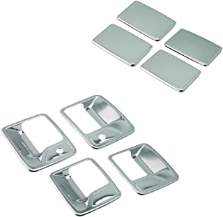 SEGADEN Chrome Plated Door Handle Cover fit for 1999-2016 FORD F-250 F-350 F-450 Super Duty ( 4 Doors With Passenger Keyhole ) XG7723