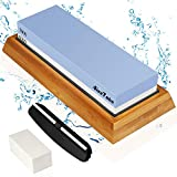 AivaToba Whetstone Knife Sharpening Stone 2 Side Grit 1000/6000 Whetstone Knife Sharpener,...