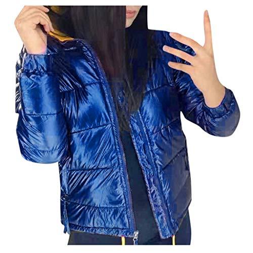 PKTOP Abrigo de invierno con capucha gruesa y cálida para mujer