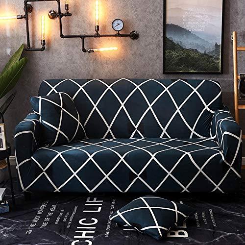 Funda de sofá Strecth con Estampado Floral Fundas de sofá de geometría elástica para Sala de Estar Fundas para sillón Funda de sofá A14 4 plazas