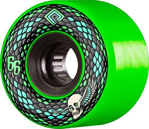 Powell Peralta Snakes Skateboard-Räder, 66 mm, 75A, Grün/Schwarz, 4 Stück