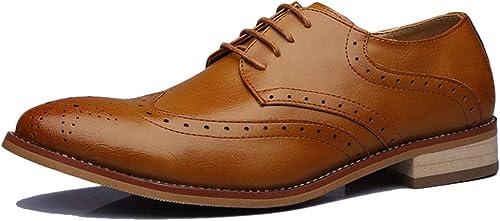 GBRALX GBRALX Chaussures Derbies pour Hommes Derbies à Lacets Bout Pointu Décontracté Chaussures Uniformes Antidérapantes Chaussures De Robe De Fête De Bureau  économiser 35% - 70% de réduction