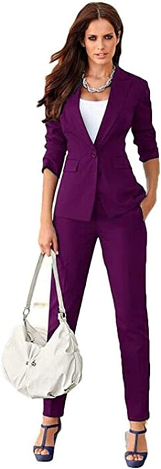 One Button Women Pantsuits Blazer Formal Ladies Business Office Tuxedos Work Wear Suits