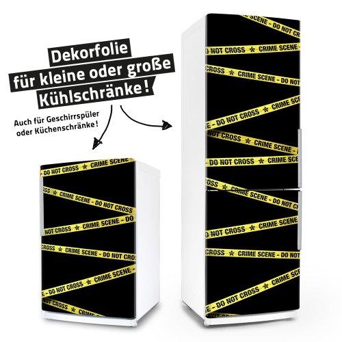 posterdeluxe Kühlschrank- & Geschirrspüler-Folie - Crime Scene - Dekorfolie Aufkleber Klebefolie Front