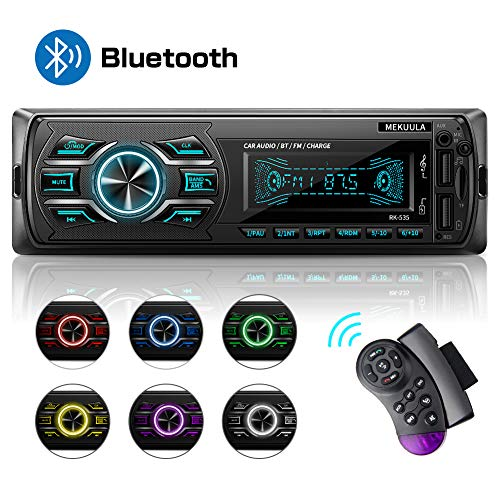 Autoradio mit Bluetooth Freisprecheinrichtung, 1 Din Stereo Auto Radio 4 x 60W FM Radio Sopport MP3 / AM/USB/WMA/WAV/TF-Media Player + Fernbedienung