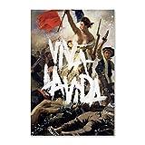 NCCDY Musikposter Coldplay, Viva La Vida, dekoratives