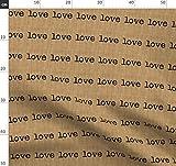 Sackleinen, Liebe, Text, Schreibmaschine, Struktur Stoffe -