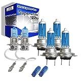 55w Super White Xenon High (main) / Low (dipped) / Fog / Side beam upgrade HeadLight Bulbs VECTRA C 16V...