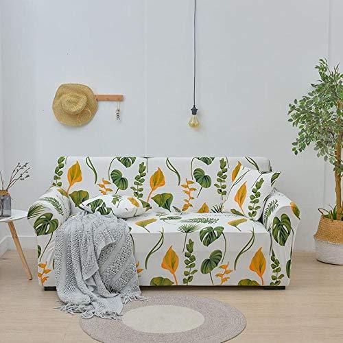 Eantpure La Funda elástica para sofá Perezoso se Utiliza para un Conjunto Completo de Funda Superior de Alfombra de Tela Simple para sofá-Green_Four People 235-300cm