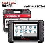 Autel MX808 - Valise Diagnostic Auto Pro Multi-Marques - Modèle France Authentique avec Garantie Autel Europe - Lecture/Effacements défauts - Reset Entretiens - Codage Injecteurs - Régénération FAP