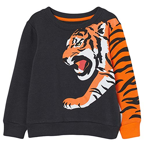 COCM10 Jungen Tiger Sweatshirt Baumwolle Pullover Tops Kinder Jumper TOberbekleidung EU 122