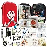 80 en 1 Profecional Kit de Supervivencia,para Viajar Caminar Acampar al Aire,Bolsa de Herramientas Multifuncional,Paquete de Supervivencia de Bolsa de Herramientas (1)