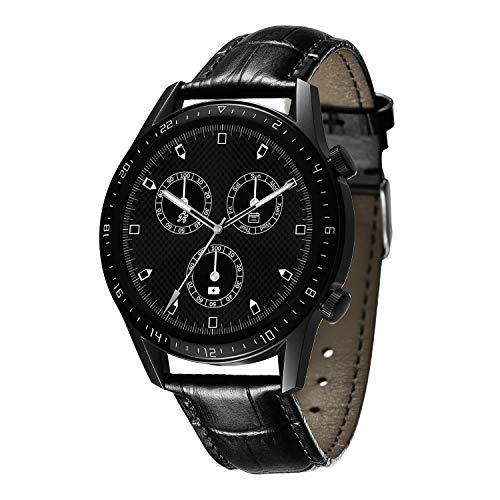 BINLUN Bandas de Reloj compatibles con Huawei GT / GT2 42mm 46mm / Huawei Watch 2 Classic/Sport Smartwatch Correa de Cuero Genuino Reemplazo 20mm 22mm Pulsera para Hombres