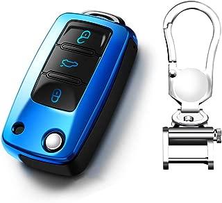 KAKTUS VW Funda de protecci/ón para Llave de Coche Smart Key de Volkswagen B8 /& Skoda del a/ño de construcci/ón 2017 para Plegar Llaves D