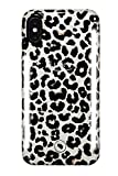 LuMee Duo Phone Case, Leopard Glitter | Front & Back LED Lighting, Variable Dimmer | Shock Absorption, Bumper Case, Selfie Phone Case | iPhone X/iPhone Xs