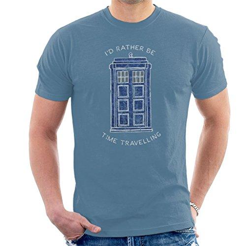 Men's I'd Rather be Time Travelling Tardis T-shirt