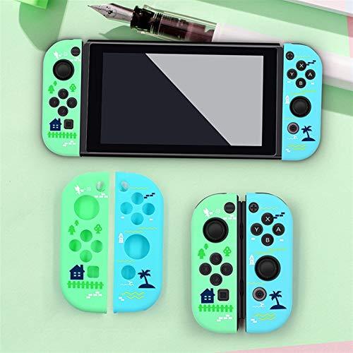 Xpccj Casos 1 par de tapas para pulgar y empuñaduras de silicona cubre funda protectora antideslizante para Nintendo Switch controlador de juego consola cubierta protectora