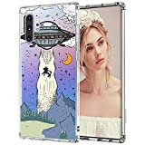 MOSNOVO UFO Case for Samsung Galaxy Note 10 Plus, Clear Design Transparent Plastic Hard Back Case with TPU Bumper Protective Case Cover for Samsung Galaxy Note 10 Plus