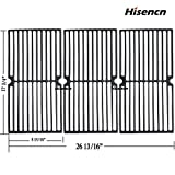 Hisencn 17.75 inch Grill Grate for Brinkmann 810, 810-2410-S, 810-3660-S, 810-2411-F, 810-7490-F, 810-8410-F, 810-8410-S, Charmglow 810-8410-F, 17 3/4' x 26 13/16' Cast Iron Cooking Grids Replacement