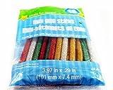 Crafters Square Mini Glue Sticks - Glitter - Red, Green, Gold, Silver - 15 sticks in package