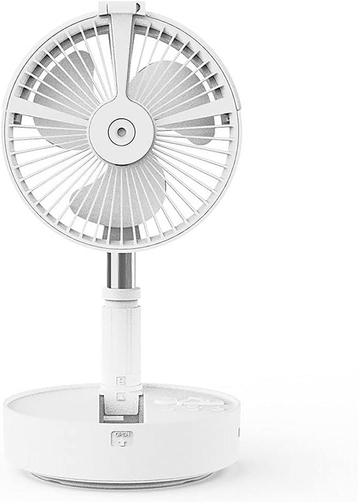 HehiFRlark HS9 USB Ventilador eléctrico Humidificador Hidratación Vaporizador de Agua Ventilador Ventilador Plegable Blanco