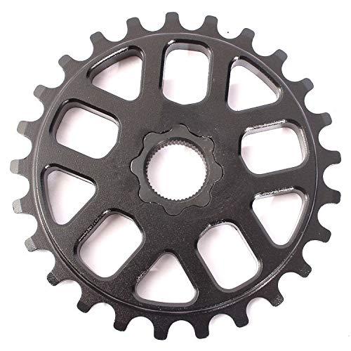 KHE BMX Spline Drive - Plato para bicicleta (25 dientes, aluminio 7005, CNC, 98 g), color negro mate