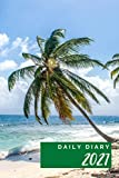 Daily Diary 2021 one page per day: Tropical Island Green Cover | 1 Year Daily Diary 2021 | One Year Planner Calendar Journal Organizer Diary for 12 ... Present for Colleague Coworker Manager Friend