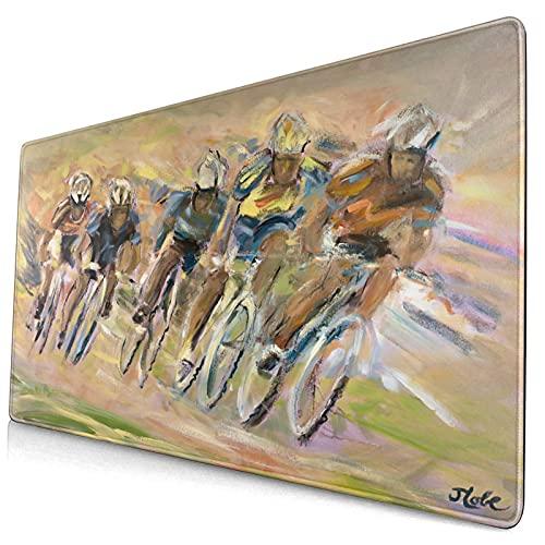 Custom Office Mauspad,Radfahrer Radfahrer Fahrräder Fahrräder Race Biker,Anti-Rutsch-Gummiunterseite Gaming-Mauspad-Matte Schreibtisch-Dekor 15,8
