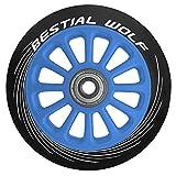 Bestial Wolf Rueda Pilot para Scooter Freestyle, Diámetro 100 mm (Azul)