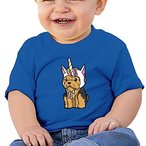 Aiier Yorkshire Terrier Unicornio Camiseta para bebe Camisetas de manga corta Body Ropa para gatear