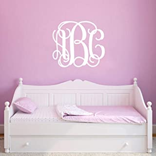 Personalized Monogram Vinyl Wall Decal Sticker Art Decor