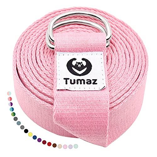 Tumaz yogabälte/yogabälte för fysisk terapi, hemträning, daglig stretching med extra säkert...