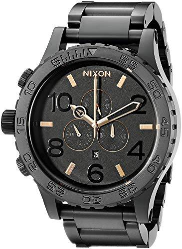 Nixon Herren Chronograph Quarz Uhr mit Edelstahl Armband A083-957-00