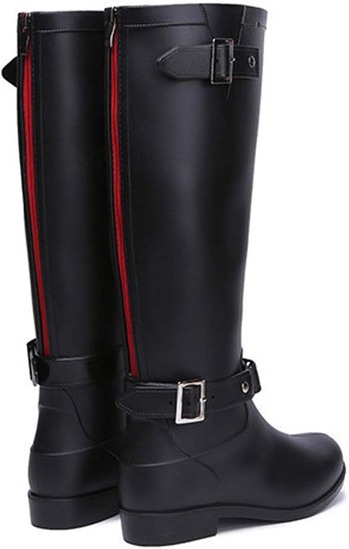 Hanxue Womens Mid Calf High Rainboots Snow Boots