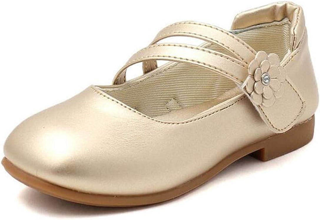 LFHT Little Kids Princess Uniform School Ballet Flower Mary Jane Flats Girls Dress Shoes